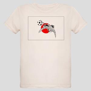Japan Football Crane Organic Kids T-Shirt