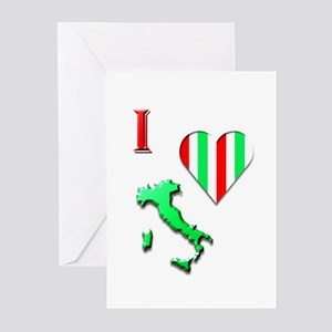 I Love Italy 2 Greeting Cards (Pk of 20)