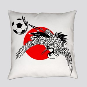 Japan Football Crane Everyday Pillow