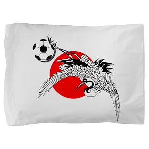 Japan Football Crane Pillow Sham