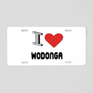 I Love Wodonga City Aluminum License Plate