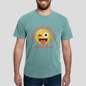 Emoji Wink Birthday Mens Comfort Colors Shirt