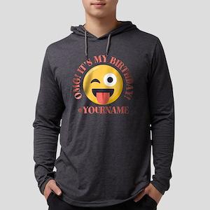 Emoji Wink Birthday Mens Hooded Shirt