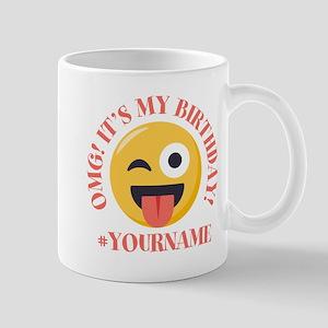 Emoji Wink Birthday 11 oz Ceramic Mug
