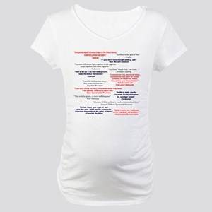ArtyQuotes1Front Maternity T-Shirt