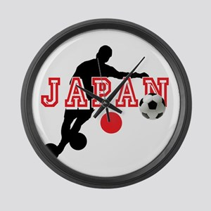 Japan Soccer Player Large Wall Clock