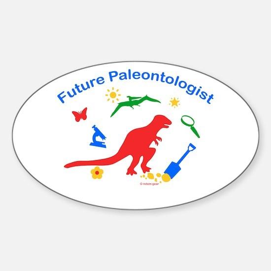 Future Paleontologist Oval Decal
