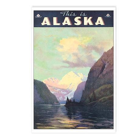 Vintage 1930s Alaska Travel Postcards (Package of