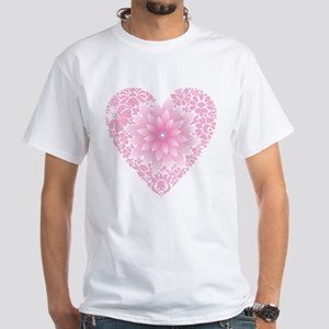 Pale Lotus Heart T-Shirt