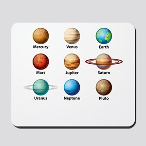 Planets Of The Solar System Mousepad