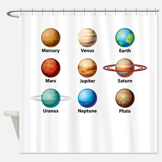 Planets Of The Solar System Shower Curtain