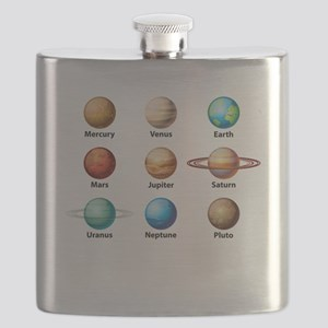 Planets Of The Solar System Flask