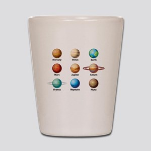 Planets Of The Solar System Shot Glass