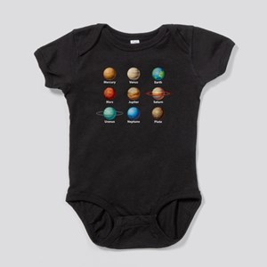 Planets Of The Solar System Baby Bodysuit