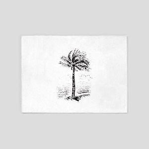 Palm Tree 5'x7'Area Rug