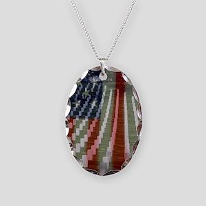 Patriotism Necklace Oval Charm