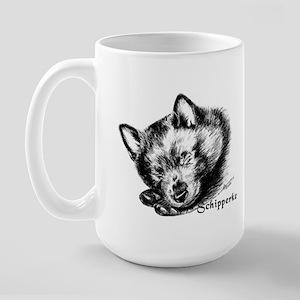 Sleeping Schip Pup Large Mug