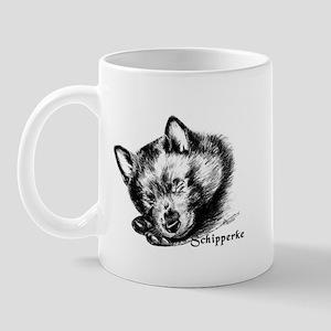 Sleeping Schip Pup Mug