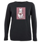 Rose Cat Plus Size Long Sleeve Tee