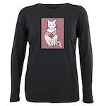 Rose Cat Plus Size Long Sleeve Tee