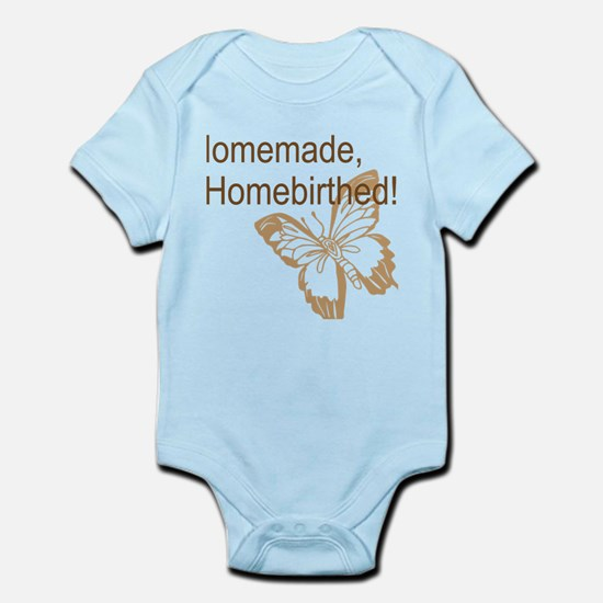 Homebirth Butterfly Brown Body Suit