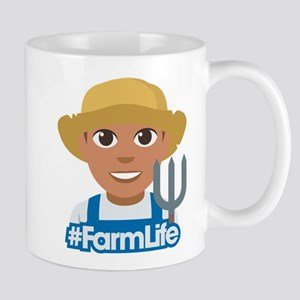 Emoji Hashtag Farm Life 11 oz Ceramic Mug