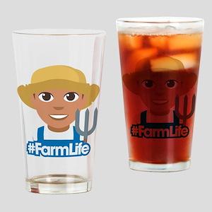 Emoji Hashtag Farm Life Drinking Glass