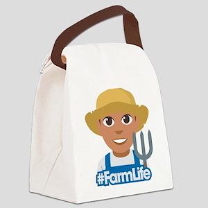 Emoji Hashtag Farm Life Canvas Lunch Bag