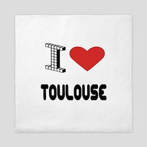 I Love Toulouse City Queen Duvet