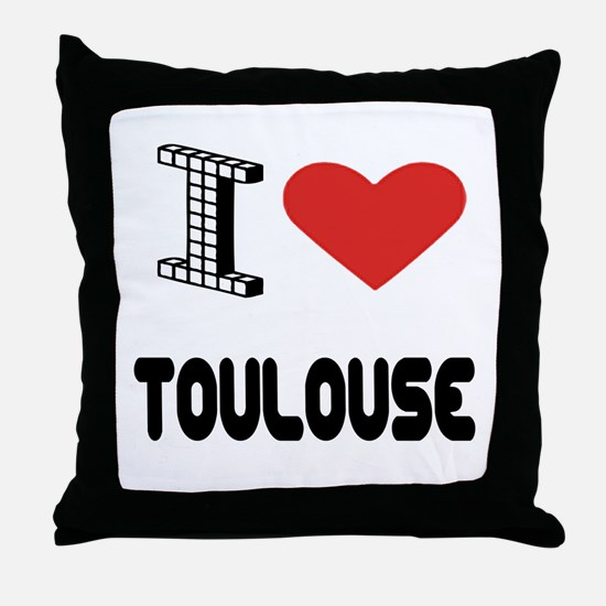 I Love Toulouse City Throw Pillow