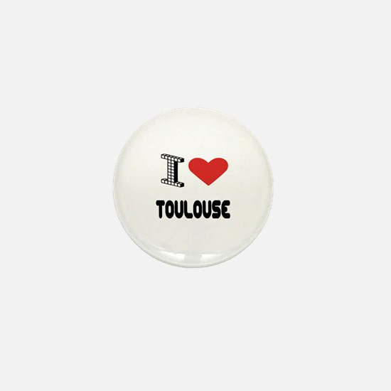 I Love Toulouse City Mini Button