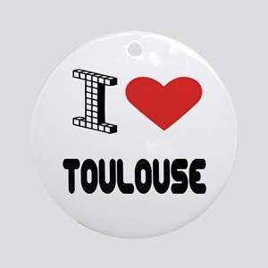 I Love Toulouse City Round Ornament