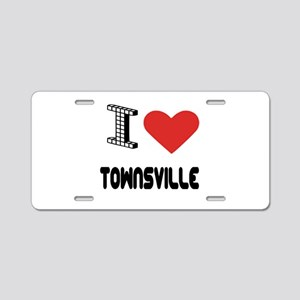 I Love Townsville City Aluminum License Plate