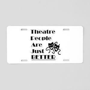 Theatre People Aluminum License Plate