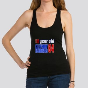 Cleverly Disguised As 84 Birthd Racerback Tank Top
