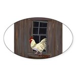 Rooster in the Window Sticker
