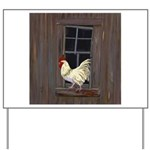 Rooster in the Window Yard Sign
