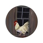 Rooster in the Window Button