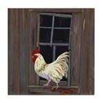 Rooster in the Window Tile Coaster