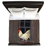 Rooster in the Window King Duvet