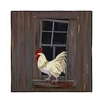Rooster in the Window Queen Duvet