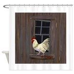 Rooster in the Window Shower Curtain