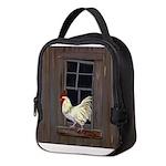 Rooster in the Window Neoprene Lunch Bag