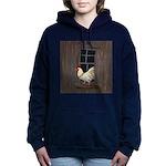 Rooster in the Window Women's Hooded Sweatshirt