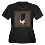Rooster in the Window Plus Size T-Shirt