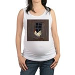 Rooster in the Window Maternity Tank Top