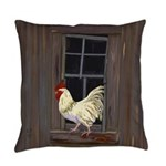 Rooster in the Window Everyday Pillow