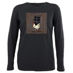 Rooster in the Window Plus Size Long Sleeve Tee
