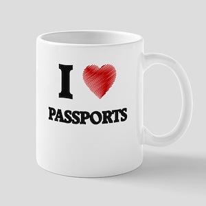 I love Passports Mugs