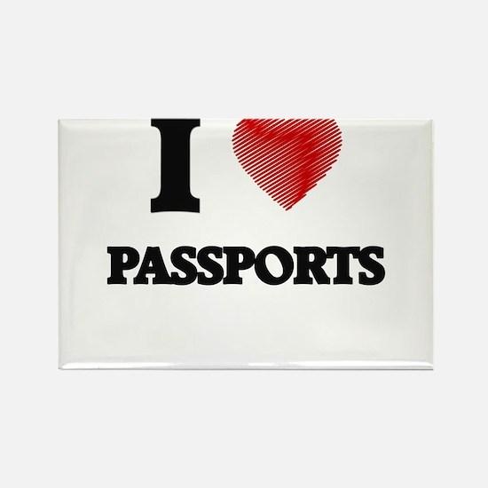 I love Passports Magnets